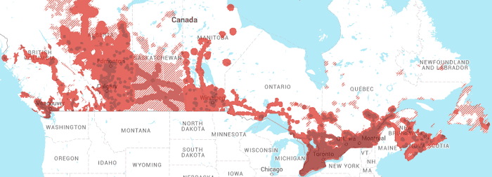 Rogers wireless' network coverage